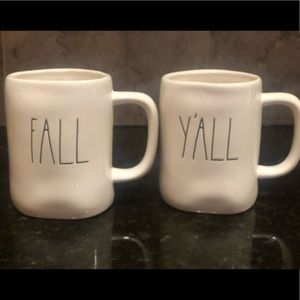 💚 RAE DUNN 🎃 🍁FALL Y'ALL MUG SET 🍁🎃 NEW